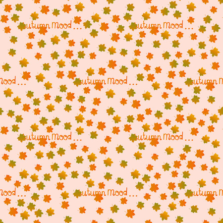 indian summer: Autumn mood seamless pattern. Fall motif endless background. Indian summer vector illustration.  Illustration