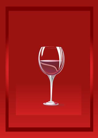 bocal: Bocal vetro su fondo rosso con un quadro. � possibile utilizzare su un altro sfondo. Vettoriali