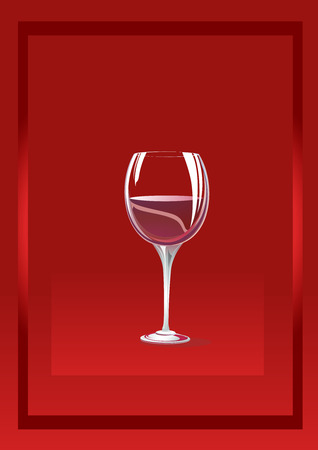 bocal: Glass bocal on a red background with a framework. It is possible to use on a different background. Illustration