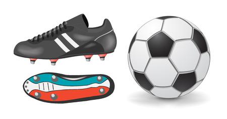 chaussure sport: Accessoires football Illustration