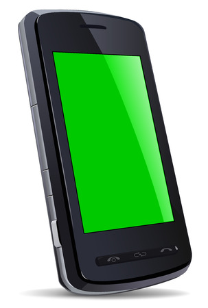Vector black mobile gadget Stock Vector - 4724893