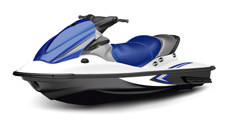 Detailed vector jet boat(scooter). Vector