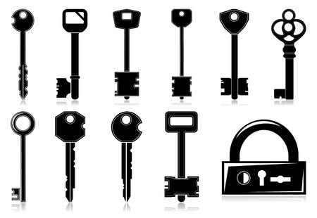 Vector keys set Vector