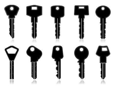 antique keys: Vector keys set