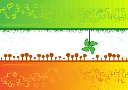 Vector colorful nature background Stock Vector - 5183725