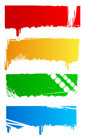 Grungy colored banners ready for your text Vector