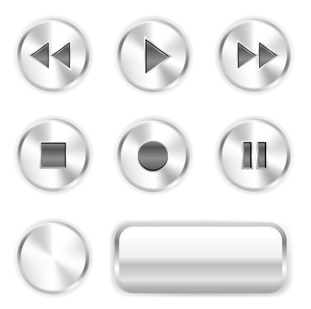 Vector player buttons. To see more go to my portfolio... Vector