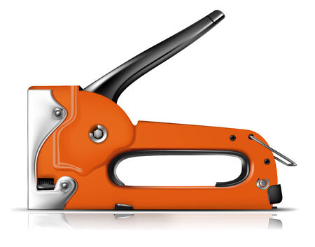 stapling: Detailed vector stapler. To see more great illustrations go to my portfolio....