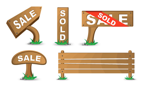 Detailed vector wood sign. To see more detailed vectors go to my portfolio... Stock Vector - 5367370