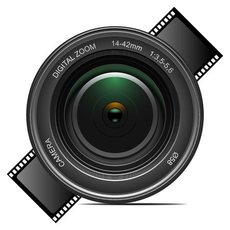 Gedetailleerde vector camera lens. Meer gedetailleerde ga vectoren naar mijn portefeuille...