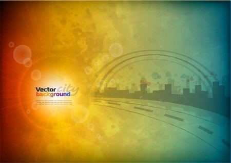 City abstract background Illustration