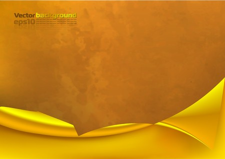 isolation backdrop: Abstract background with a metal golden curl Illustration