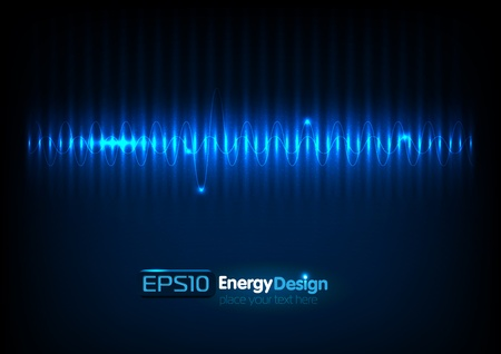Vector abstract energy bakground Illustration