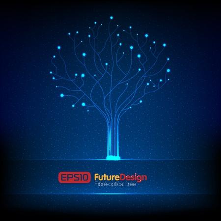 Vector fibre-optical tree.