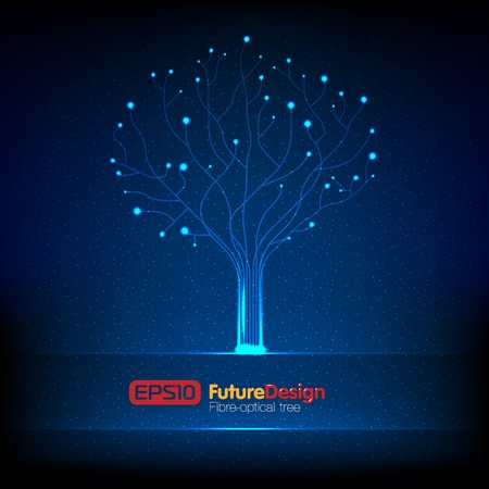 Vector fibre-optical tree. Stock Vector - 9934900