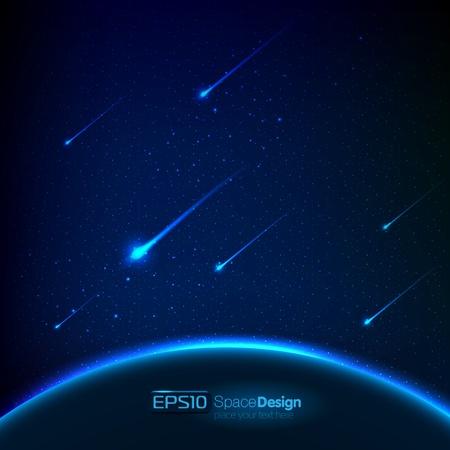 Vector de fondo del espacio