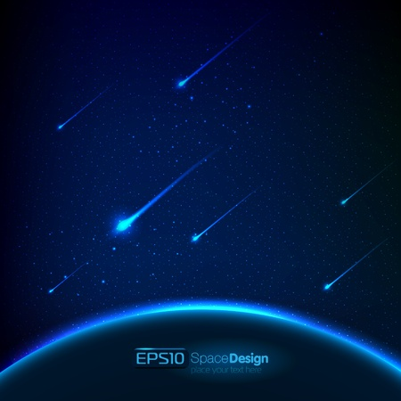 meteor: Vektorraum Hintergrund