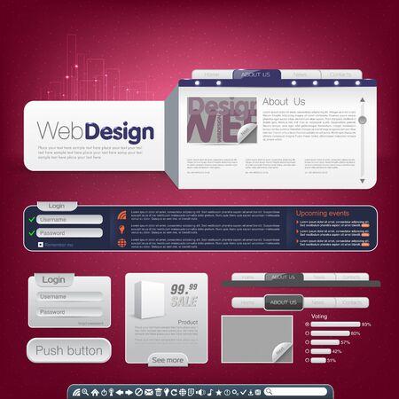Vector website template Vector