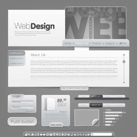 set form: Vector web site design template. To see more go to my portfolio