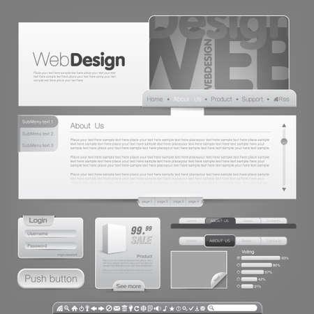 사용자: Vector web site design template. To see more go to my portfolio