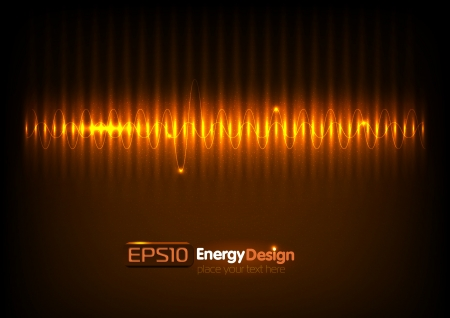 Vector abstract energy background Stock Vector - 14391793