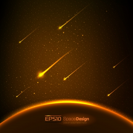 fireballs: Vector space background
