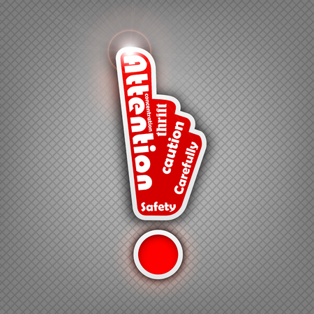 stop hand: Vector idea of attention sign