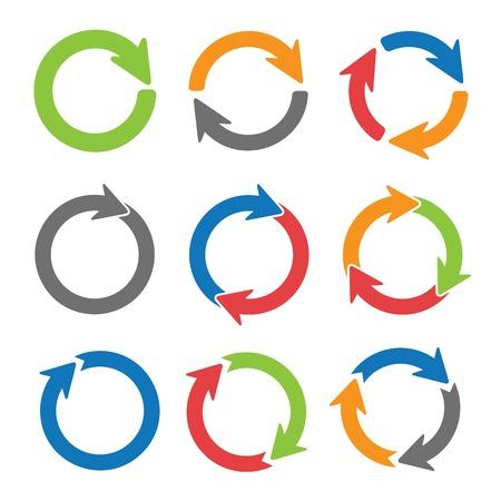 Arrow círculos Ilustración de vector