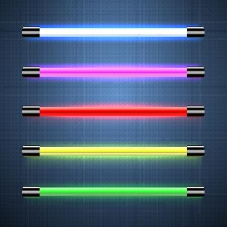 red tube: Las lámparas de neón Vectores
