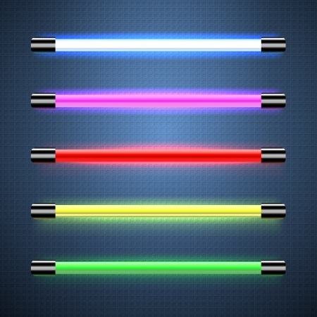 fluorescent tube: Neon lamps