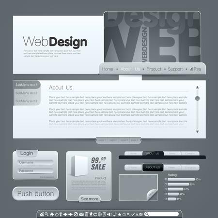 submenu: Web template