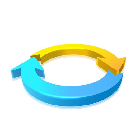 circular flow: Circular Arrow 3D Illustration