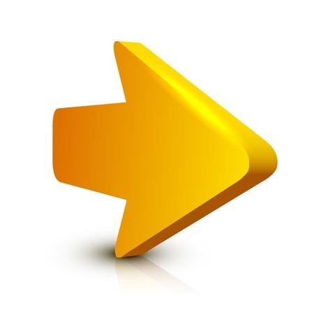 Pijl 3D Stock Illustratie