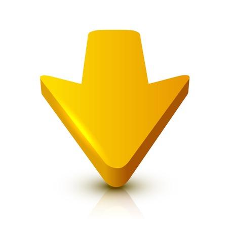 Flecha 3D  Foto de archivo - 25118433