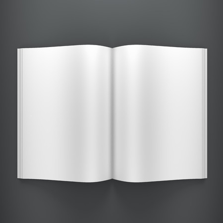 Open book on clean background photo