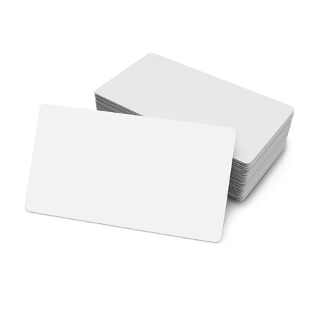 Business cards on white background. Mock up