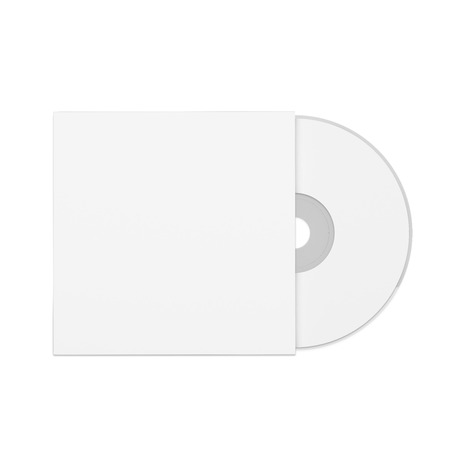 computer case: Dvd optical drive on white background. Mockup Stock Photo