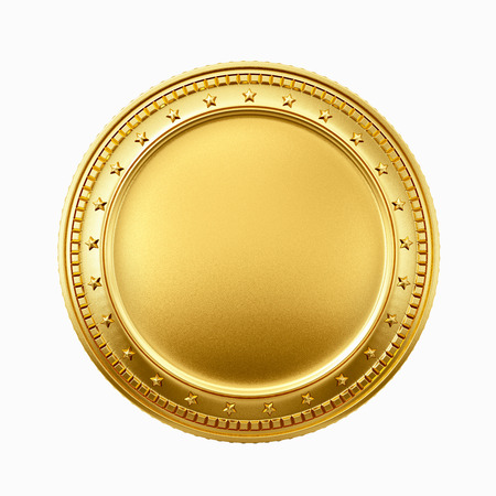 Gold coin isolated  photo