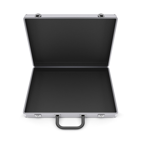 Metal case isolated on a white background  photo