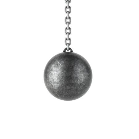 Wrecking ball geïsoleerd op een witte achtergrond