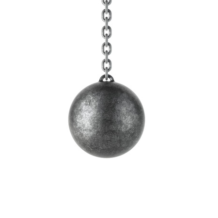 Wrecking ball isolated on a white background  photo