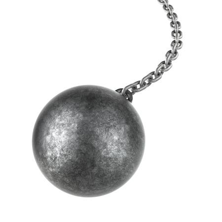 ?    ?    ?    ? ¡mbito: Bola de demolición aislado en un fondo blanco