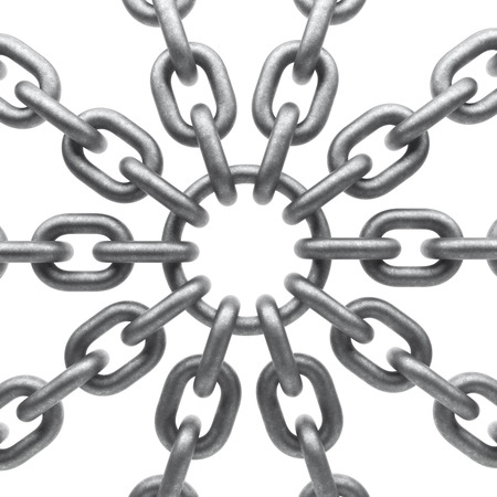 Metal chain isolated on a white background