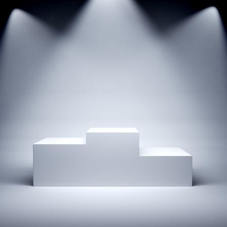 empty stage: Podium