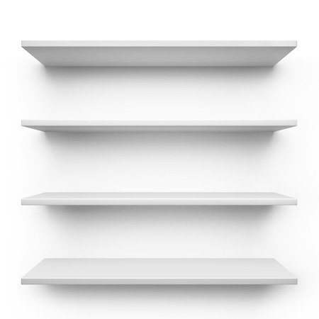 to white: Shelves