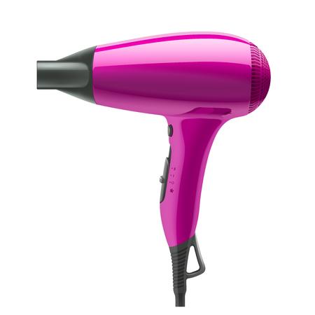 Secador de pelo aislado en el fondo blanco. Puede ser utilizado en cualquier fondo y transformar.