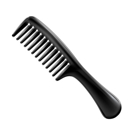 hairbrush: Hairbrush isolated on white background. Can be used on any background and transform.