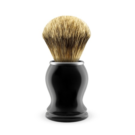 shaving brush: Shaving brush isolated on white background