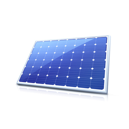 solar collector: Solar panel. High quality illustration Illustration