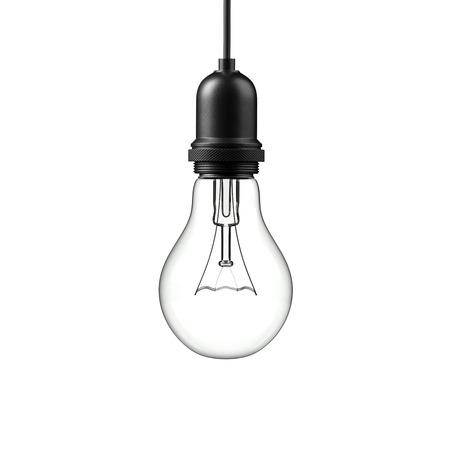 Lamp light bulb isolated on white background. 3D illustration